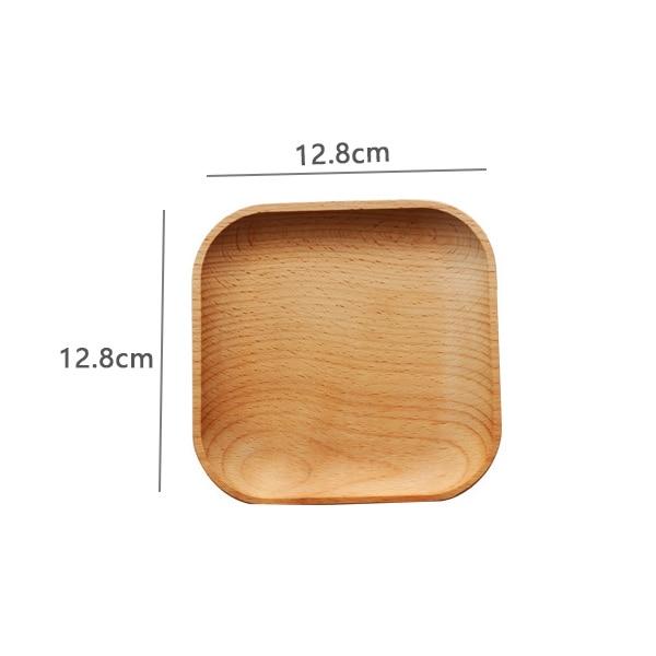 Деревянная сервировочная тарелка, деревянная квадратная и круглая сервировочная тарелка, фруктовый десертный торт Снэк Конфета тарелка деревянные миски-2