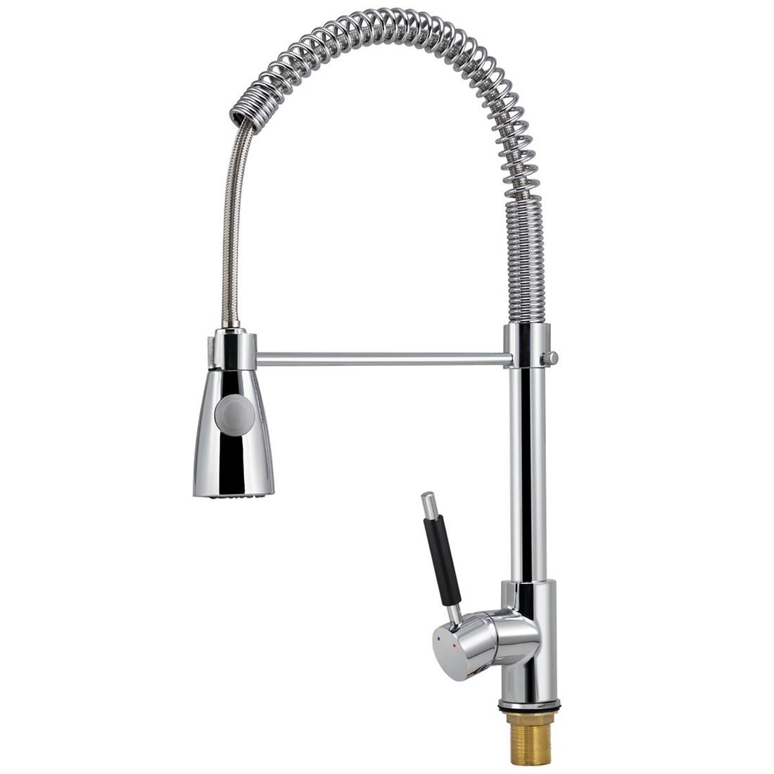 Poignée tirer le robinet de mélangeur de robinet d'évier de cuisine de ressort de jet