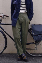 Брюки мужские повседневные Прямые хлопково льняные штаны приталенные