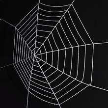 Halloween Spider Web Fake Stretch Cobweb Extra Large Haunted Outdoor Themed Parties Decoration 9 laps 3.6 m