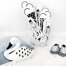 1 шт. Белый и Черный лебедь подушка для детской комнаты детское оформление спальни Мультфильм Животное Декор Лебедь детская комната