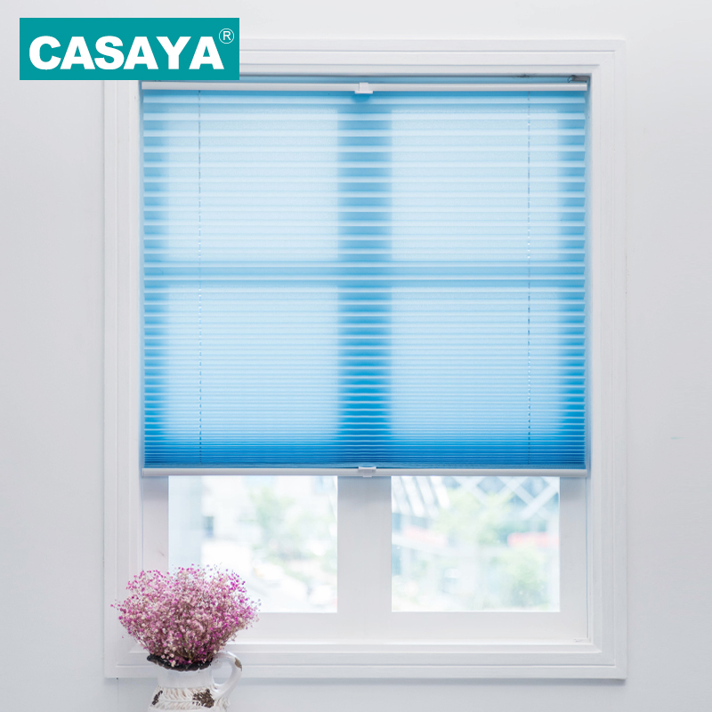 Trim at Home Cordless Pleated Blinds Light Filtering Shade Child Safety Easy Lift Pleated Curtains Roller