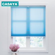 Trim-at-Home Cordless Pleated Blinds Light Filtering Shade Child Safety Easy Lift Pleated Curtains Roller Blinds Customized Size