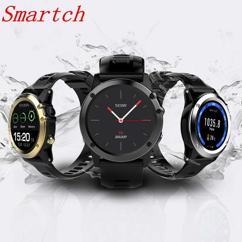 Smartch H1 Smart watch Android MTK6572 512MB 4GB ROM GPS SIM 3G Altitude WIFI IP68 waterproof 5MP Camera Heart Rate Smartwatch мобильный телефон onn v8 3g mtk6572 512mb 4g 5 0 4 2 5mp gps onn v8