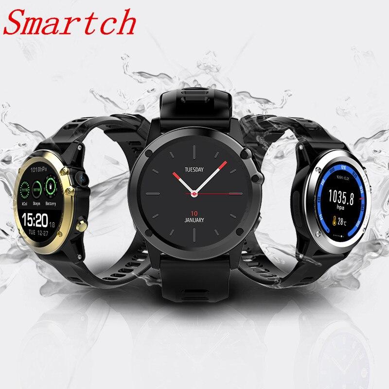 Smartch H1 montre Smart watch Android MTK6572 512 MB 4 GB ROM GPS SIM 3G Altitude WIFI IP68 étanche 5MP Caméra de Fréquence Cardiaque Smartwatch