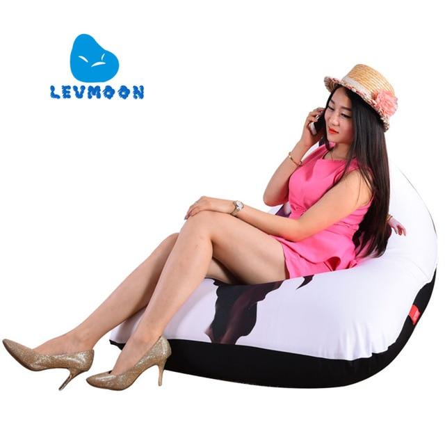 LEVMOON Beanbag Cadeira Do Sofá Beleza Soldado Zac Conforto Do Assento do Saco de Feijão Tampa de Cama Sem Enchimento de Algodão Lounge Chair Beanbag Interior