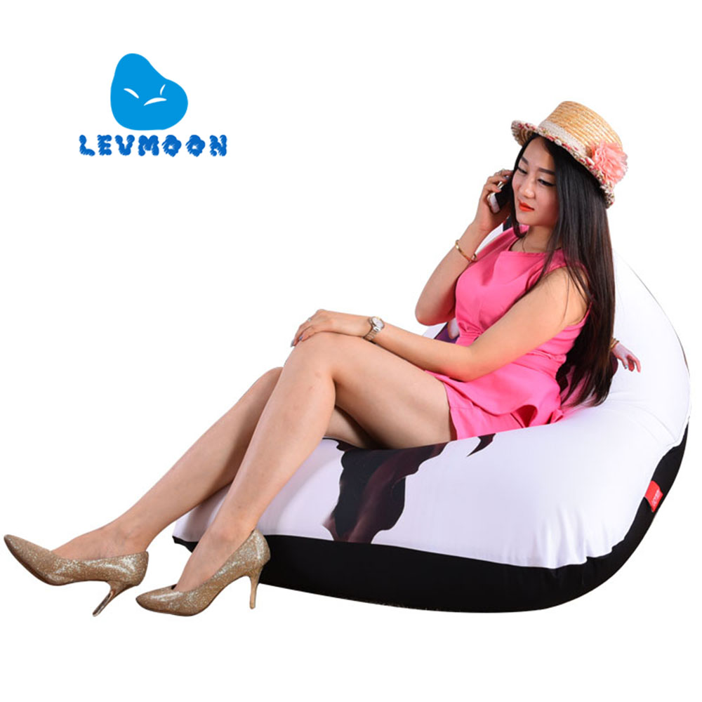 LEVMOON Beanbag Sofa Chair Beauty Soldier Seat Zac Comfort Bean Bag Bed Cover Without Filler Cotton Indoor Beanbag Lounge Chair levmoon beanbag sofa chair donkey seat zac shell comfort bean bag bed cover without filler cotton indoor beanbag lounge chair