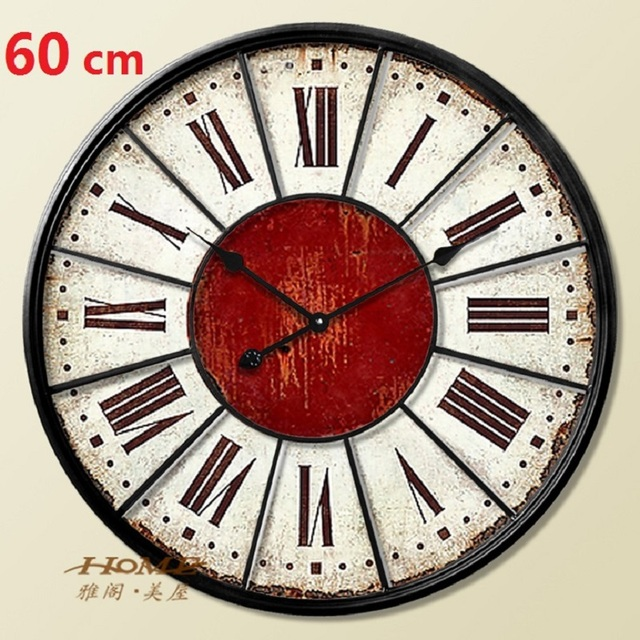 60CM Large Wall Clock Saat Clock Duvar Saati Digital Wall Clocks Horloge Murale Relogio de parede Roman numerals Klok Home decor