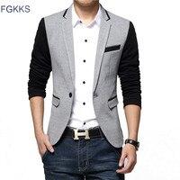 2017 New Arrival Blazer Mens Casual Jacket Single Button Cotton Men Blazer Jacket Men Classic Mens