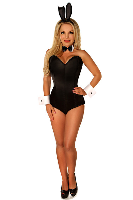 Vocole пикантные черные сапоги кролик костюм кролика для девочек корсетный  комбинезон боди Хэллоуин косплей фантазии платье 7297e2c199a3e