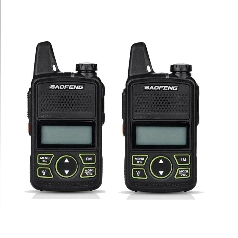 bilder für Baofeng bf-t1 mini zweiwegradio uhf 400-420 mhz 20ch tragbare walkie talkie ham fm radio transceiver sprech original 2 stücke
