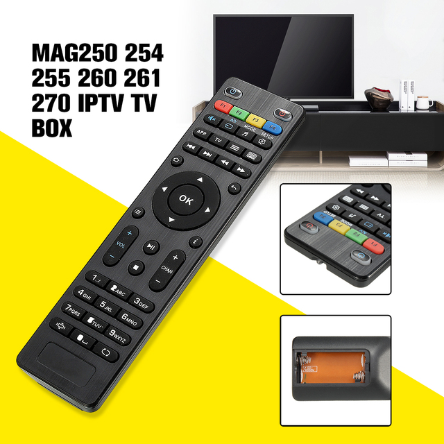 LEORY Replacement TV Box Remote Control For Mag254 Controller For Mag 250 254 255 260 261 270 IPTV TV Box For Set Top Box Mag254