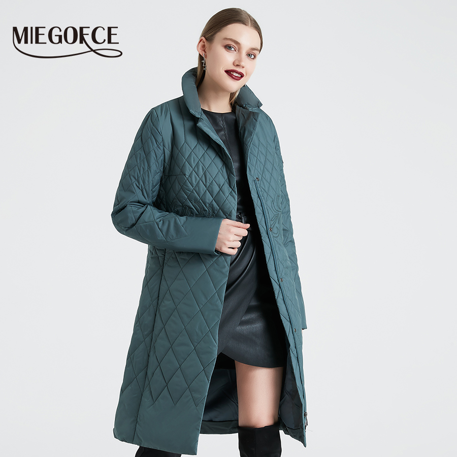 MIEGOFCE 2019 Spring Women   Parka   Coat Warm Jacket Women Thin Cotton Quilted Coat With Standing Collar New Collection Of Designer