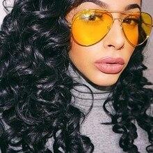 Aviator Shades 2018 Hot Night Vision Yellow Sunglasses Men W