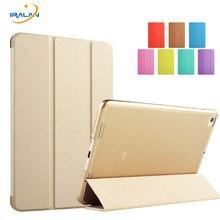 El modelo nuevo Color Sólido Translúcido caso de la Contraportada de lujo para Xiaomi mipad 2/3 7.9 pulgadas de LA PU Del Tirón del cuero del soporte de smart caso + película + pluma