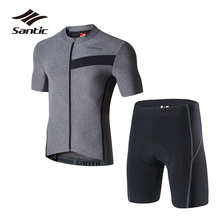 SANTIC 2018 Men's Pro Team Cycling Jersey Set Anti-sweat Cycling Skinsuit Breathable Bike Suits Kits Bicycle Wear Ropa Ciclismo