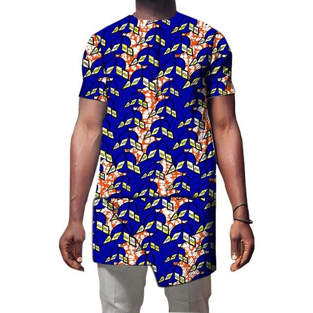 Африканские рубашка мужская мода асимметричный дизайн dashiki африканская одежда печати топы с учетом африке одежда