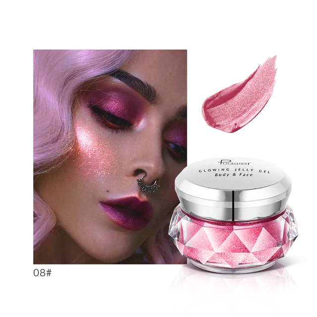 Pudaier Bronzer Metallic iluminador Highlighter Powder maquiagem Glitter Liquid Jelly Gel Cream Body Shimmer Makeup TSLM2 2