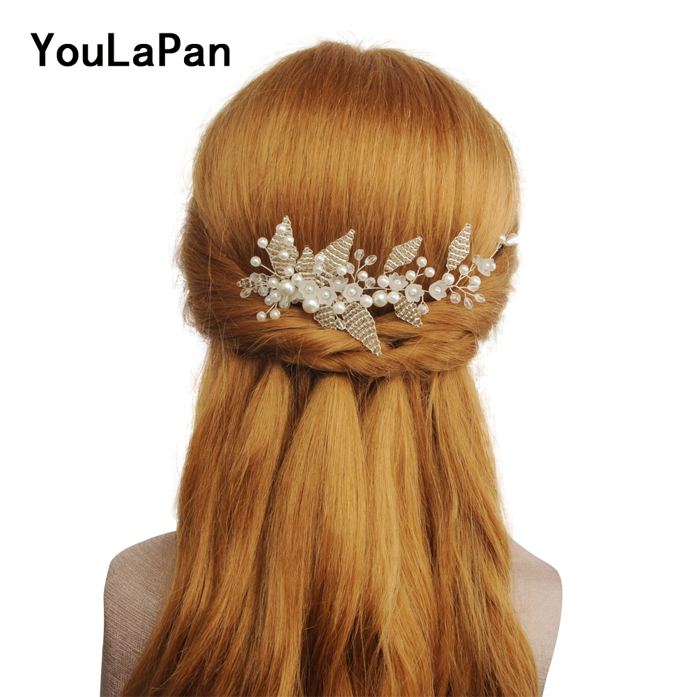 YouLaPan HP135 Wedding Hair Jewelry Bridal Tiara Beadings Bridal Wedding Hair Accessories Wedding Combs Bridal Hair Comb