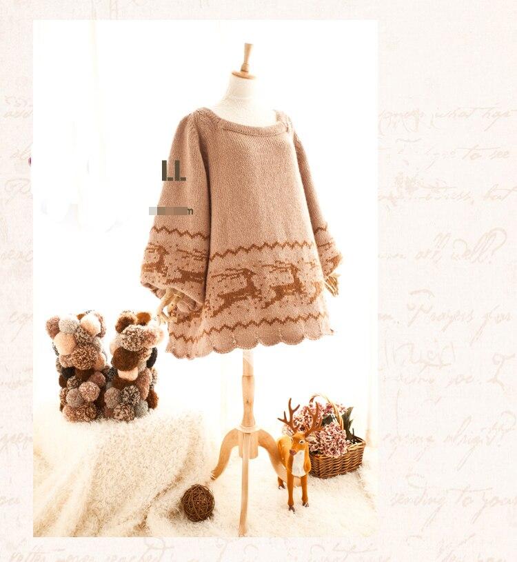 Mode À Personnalisée Livraison Chandail Gratuite Élans Lolita Taille Doux Tricoter 7SaxEwqv