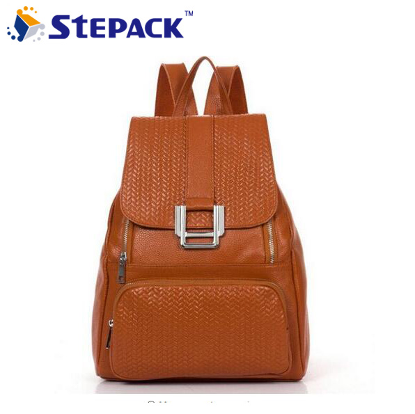 2015 Best Fashion Genuine Leather Women Backpacks Preppy Style Travel Bag Cowhide School Bags High Quality Free Ship WBG1053 preppy style school bag women backpack shoulders female travel bags kanken high quality leather backpacks bolsas free shipping