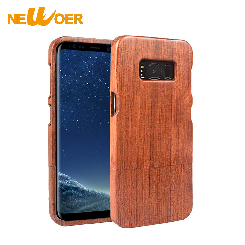 Original NEWOER Nature Rosewood Case For Samsung Galaxy S8 Phone - rosewood case