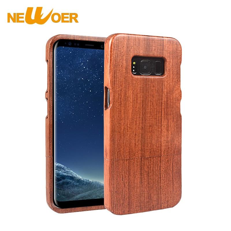 Original NEWOER Nature Rosewood Case For Samsung Galaxy S8 Phone