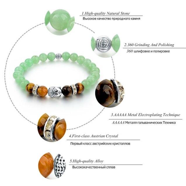 Купить женский браслет в виде будды из тибетского серебра с цепочкой картинки