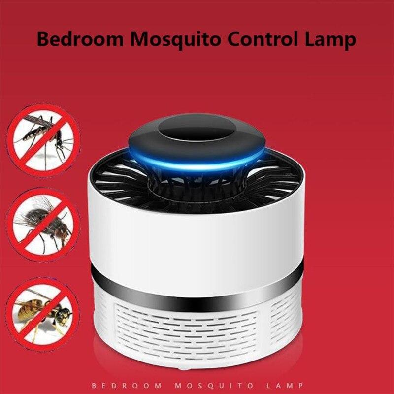 USB eléctrico Mosquito repelente luces LED ninguna radiación fotocatalizador asesino del Mosquito matamoscas insectos lámpara Catcher trampa Luz