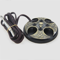 Bronze Cross Skull Tattoo Foot Switch Aluminum Alloy Foot Pedal For Tattoo Power Supply 2016 permanent makeup accesories