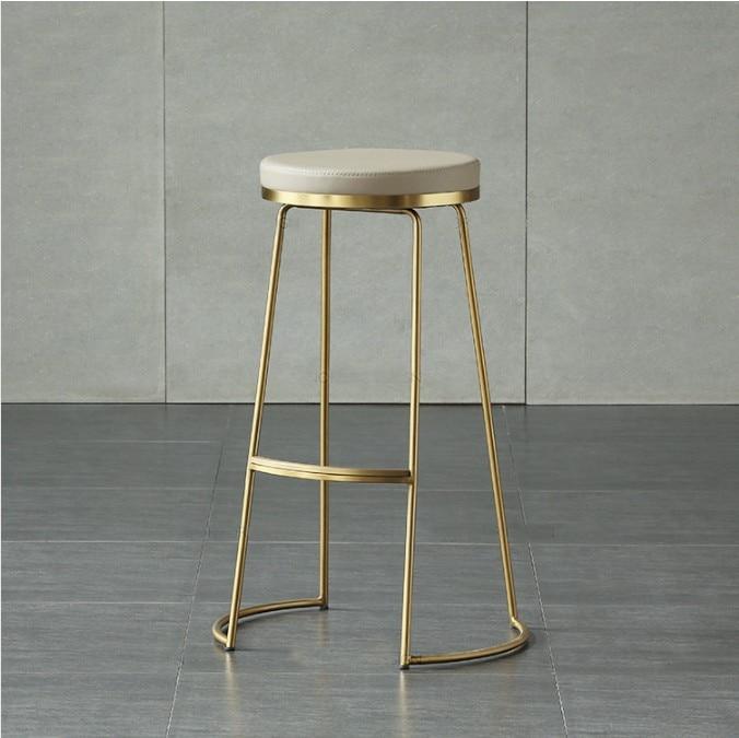 Северное золото Утюг Барные стулья Творческий высоких стульях кафе барные стулья современный минималистский барный стул в стиле кофе