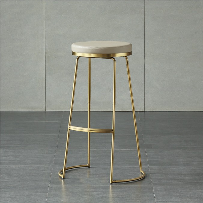 Nordic Gold Iron Bar Stools Creative High Stools Cafes Bar Chairs Modern Minimalist Bar Stool Coffee Chair wooden round high bar stools home bar chairs coffee mobile phone stool bar stools