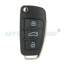 Remtekey 8E0837220Q Flip car remote key 433mhz with ID48 chip 8E0 837 220 Q for Audi A4 2004 2005 2006 2007 2008 3 Button