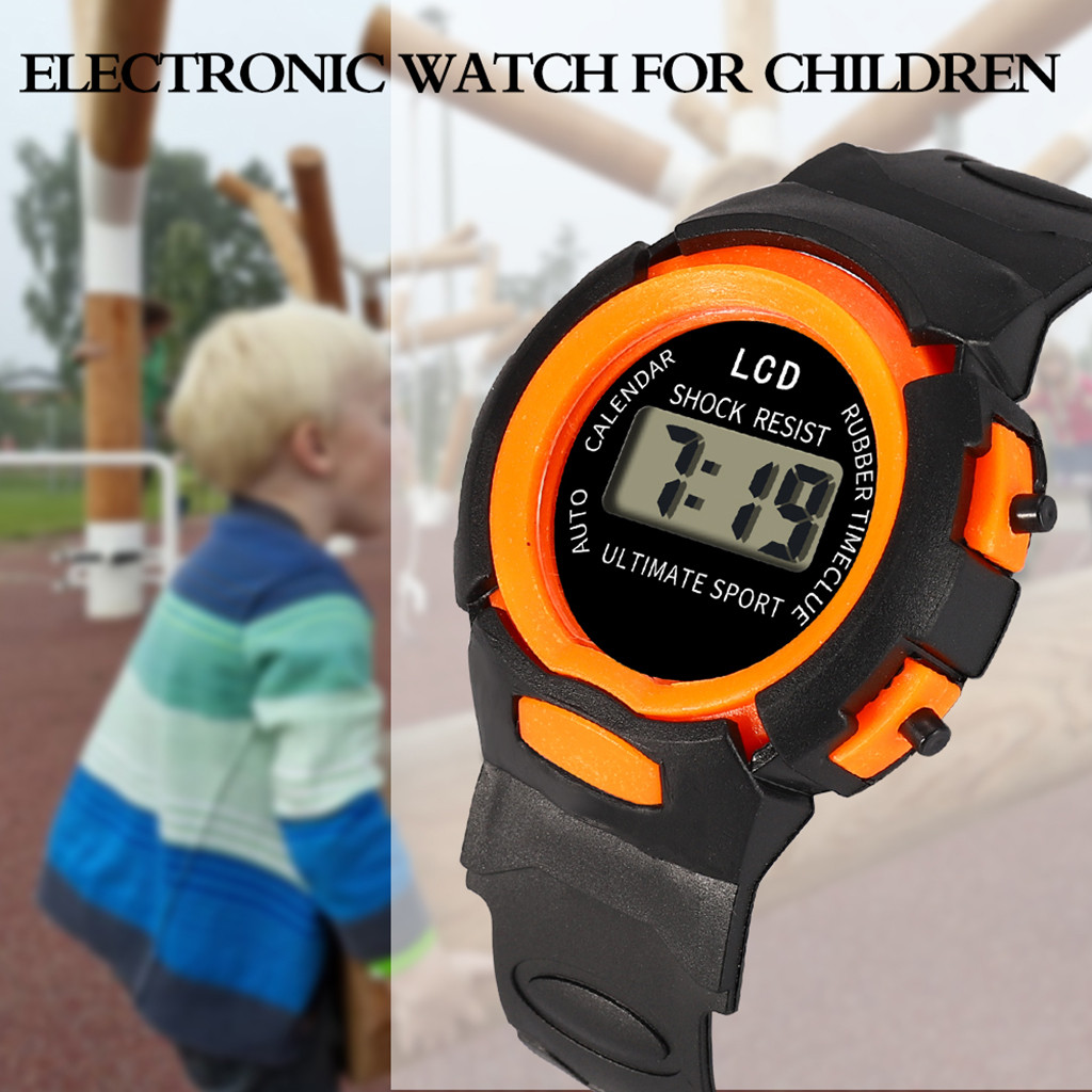 Digital Watch Children Girls Analog Digital Sports Watch LED Electronic Waterproof Wrist Watches New Clock orologi bambini 03*