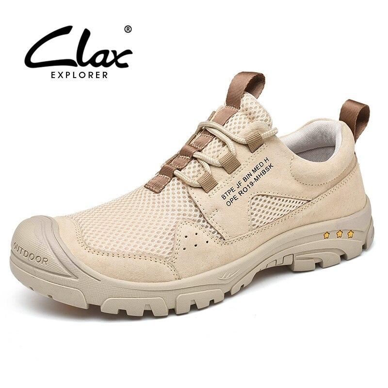 CLAX Mans Chaussures 2019 D'été Hommes de Maille Chaussures Baskets Hommes Respirant Chaussures de Marche Occasionnels Grande Taille