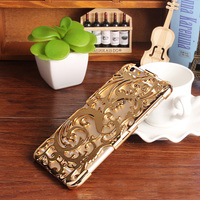 FOR IPHONE 6 Phone Case LUXURY SEXY Hollow Design Electroplating Bling Bling GOld Phone Case For