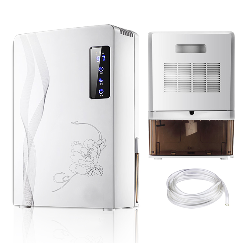 24h Timing Touch control Household dehumidifier Silent Drying machine Air Dryer With Smart Desiccant Double Drainage System