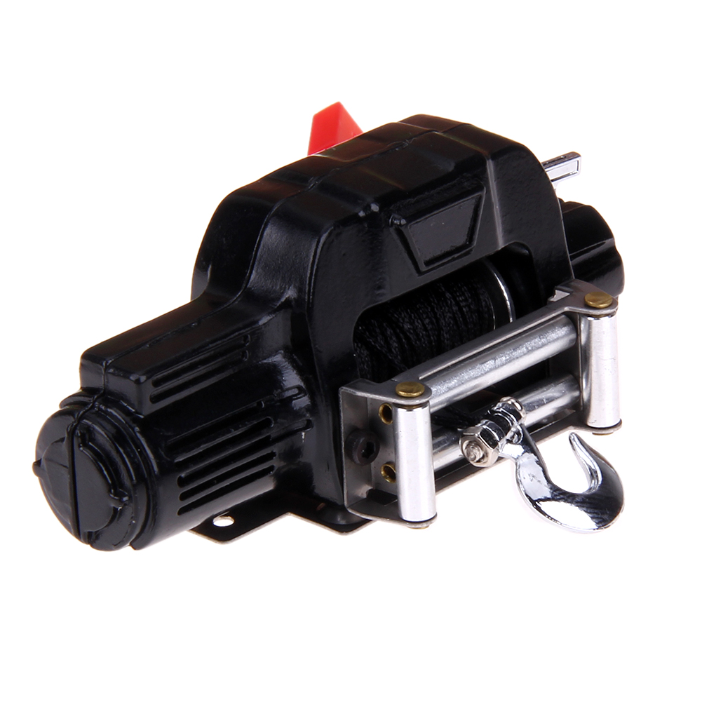 Crawler Accessories 1/10 Mini Electric Warn Winch for RC 1/10 JEEP Axial SCX10 AX10 Tamiya CC01 Traxxas RC4WD Rock Crawler rc crawler 1 10 accessories mini fuel tank winch jack tools kit for axial scx10 tamiya cc01 rc4wd d90 d110 rc truck car parts