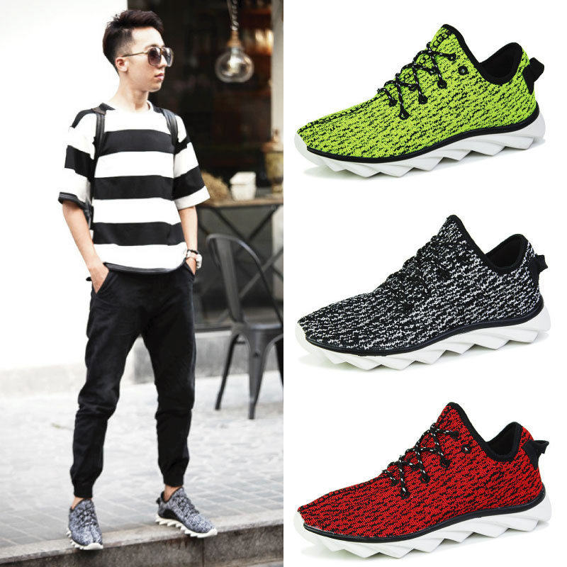 e1704cfff Free Shipping 2015 New Arrival Kanye West Yeezy 350 Sneakers Low Top Casual  Lacing Blade Sole Sport Shoes Green Running Shoes-in Fitness    Cross-training ...