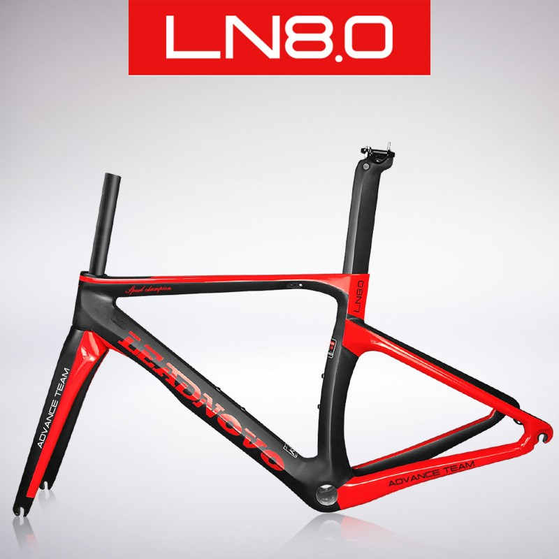 racing bike carbon bicycle frame road bike frame carbon fibre road cycling race bicycle frameset with stem taiwan bike frame