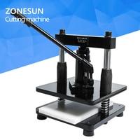 ZONESUN leather Hydraulic manual die cutting machine photo paper PVC/EVA sheet mold cutter cutting die for DIY papercraft