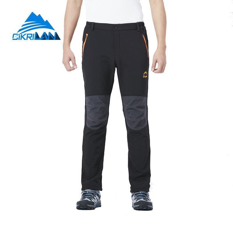Winter Windproof Pantalones Senderismo Hombre Softshell Outdoor Climbing Hiking Pants Men Trekking Camping Fleece Lined Trousers