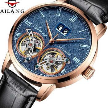 Business Men Double Tourbillon Mechanical Watches Luxury Brand Male Calendar Waterproof Watch Automatic Self-Wind Wristwatch - DISCOUNT ITEM  48% OFF Watches