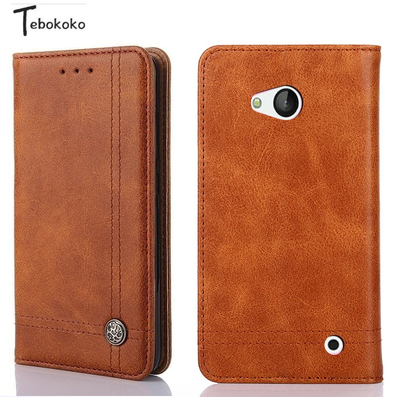 Galleria fotografica Phone Case for <font><b>Nokia</b></font> Lumia 640 <font><b>Cover</b></font> Shell Retro Luxury Leather Wallet Flip Case for Microsoft <font><b>Nokia</b></font> Lumia 640 Coque