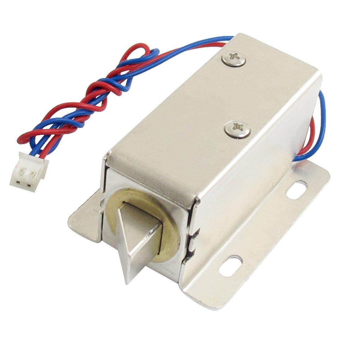 CLOS 0837L DC 12V 8W Open Frame Type Solenoid for Electric Door Lock dc 12v open frame type electronic door lock 12v 2a for cabinet locks solenoid locks drawer