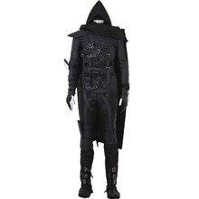 Горячая игра вор 4 косплэй костюм для взрослых Хэллоуин для мужчин черный полный наряд индивидуальный заказ