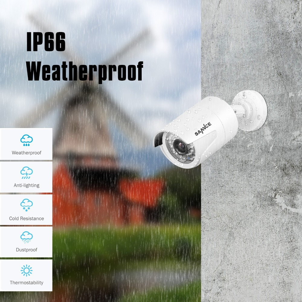 SANNCE 8CH HD 1080P POE Network Video Security Surveillance System 1TB HDD 4PCS 2.0MP IP Camera Waterproof NVR CCTV Kits