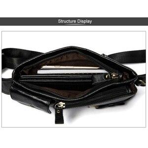 Image 5 - MVA riñonera informal de cuero genuino para hombre, bolso para la cintura, para dinero y teléfono, 9080