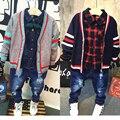 Children wear long sleeved sweater cardigan sweater coat baby boy 2017 new spring B774 GG P