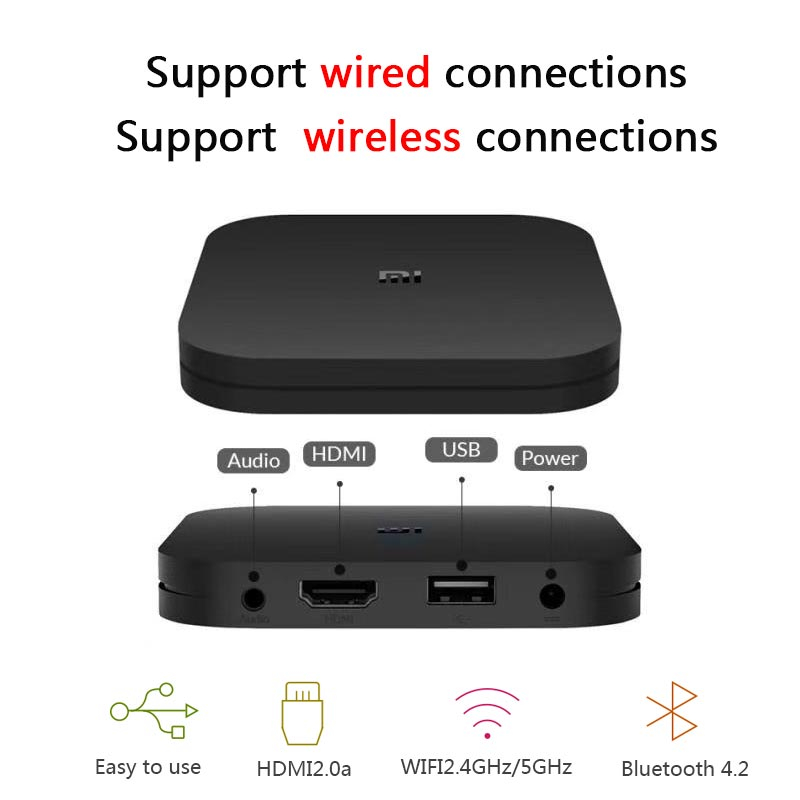 Xiao mi Box S 4 K TV Box Cortex-A53 Quad Core 64 bits Mali-450 1000Mbp Android 8.1 2 GB + 8 GB HD mi 2.0 2.4G/5.8G WiFi BT4.2 TV Box - 6